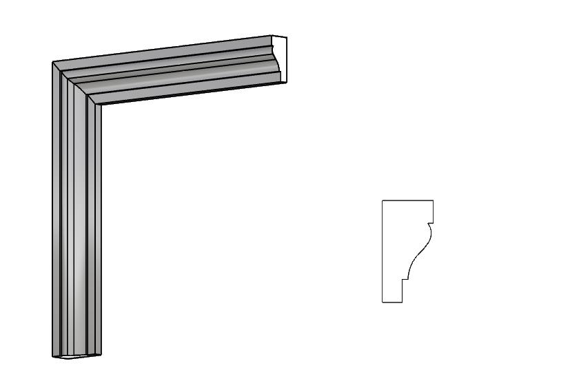 cornici per porte e finestre in polistirolo resinato PL05 Pistoia, Toscana