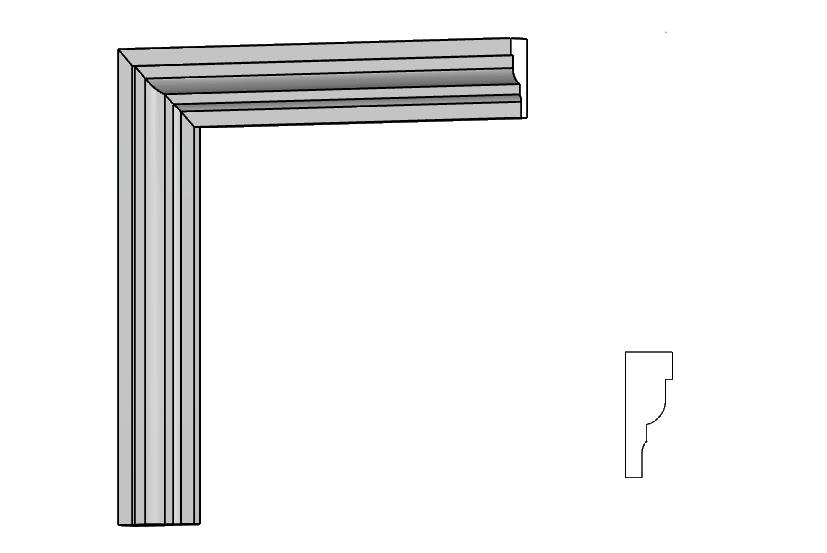 profili polistirene resinato per porte e finestre in polistirolo PL36 Pistoia, Toscana