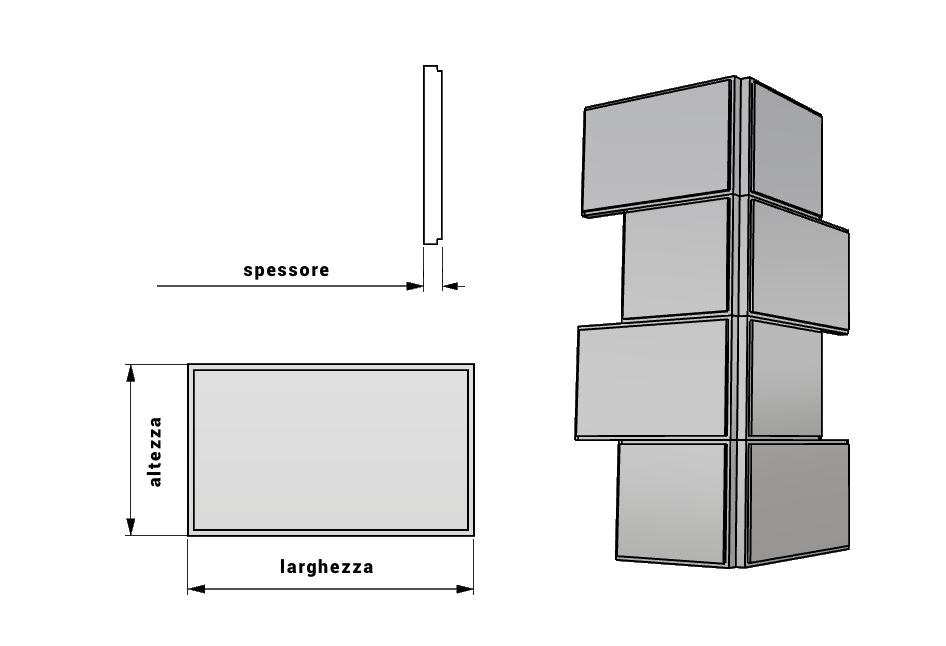 Bozze per angolo decoro facciata in polistirene PL185