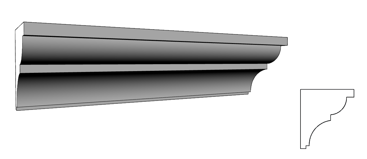 Cornicione sottogronda in polistirolo resinato per esterno PL76