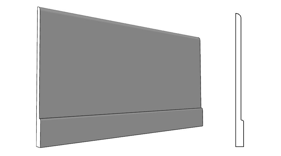 Fasce decorative per facciate con battiscopa simil pietra PL337