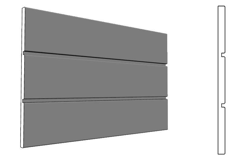 Zoccolatura a fascia per la parte bassa della facciata PL340