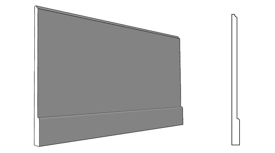 balsa o fascia per parete con cappotto PL339