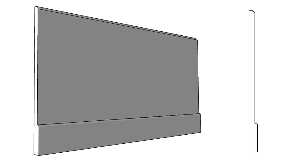 balza con battiscopa per rivestimento parte inferiore della parete PL338