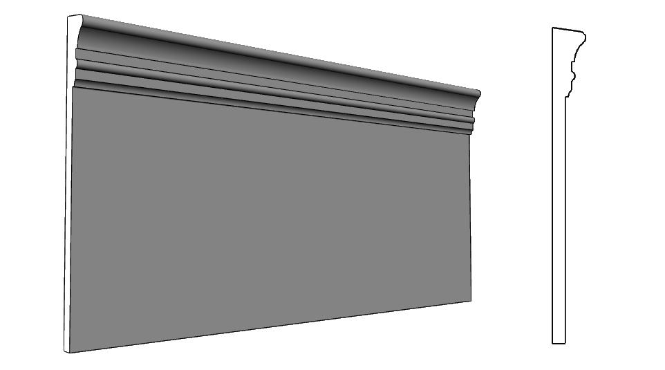 balza elemento architettonico per facciata alleggerito PL334