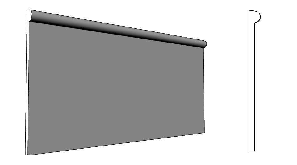 balza per facciata liberty su misura e su disegno PL335