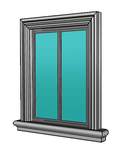 contorno finestra con davanzale in polistirolo resinato Pistoia, Toscana
