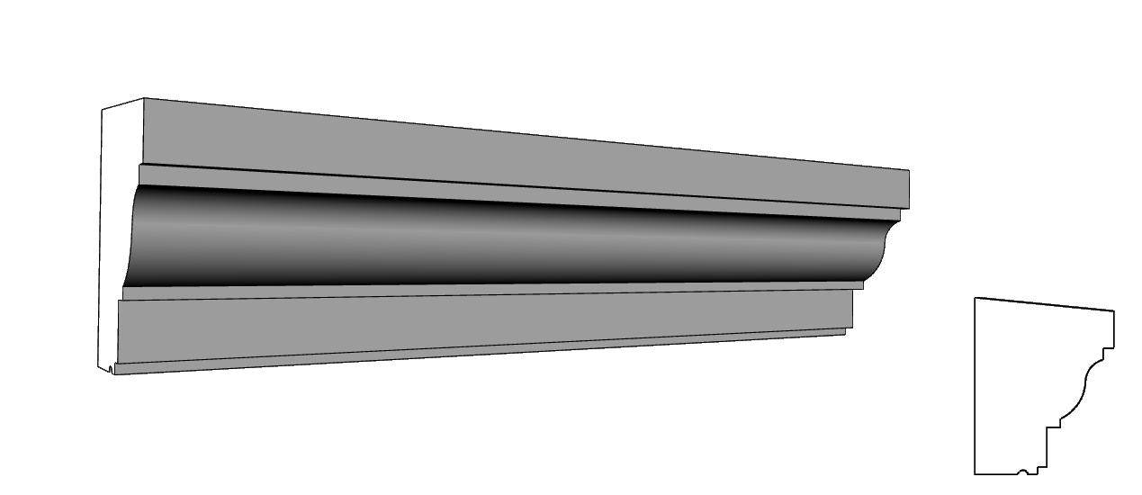 cornici architettoniche alleggerite per facciate esterne PL64