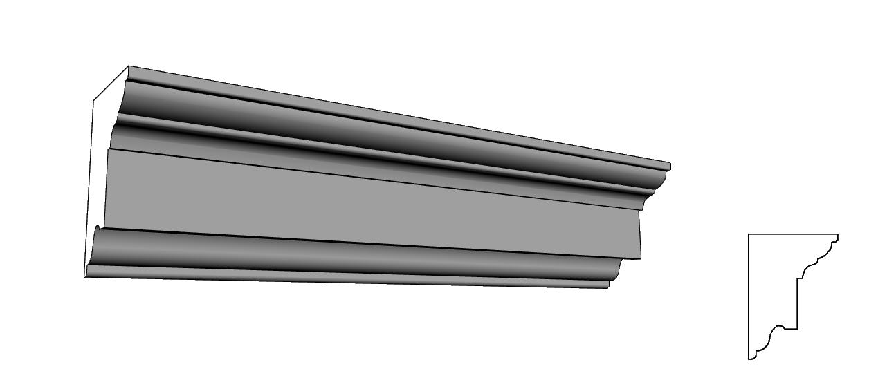 cornici per facciata liberty su misura e su disegno PL61