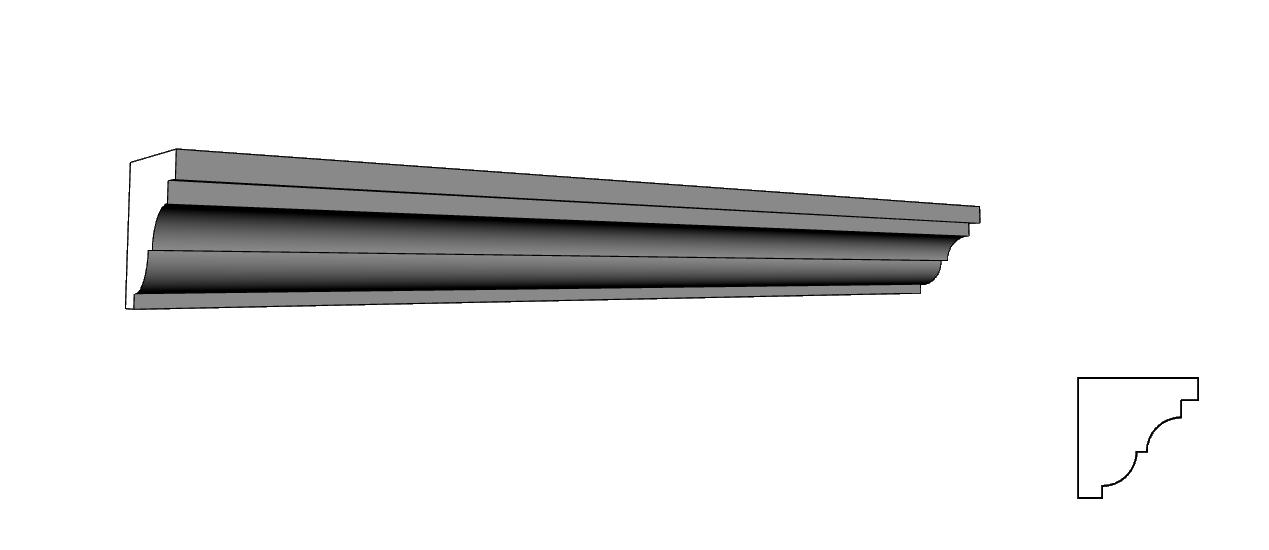 cornicione leggero in polistirolo espanso PL59