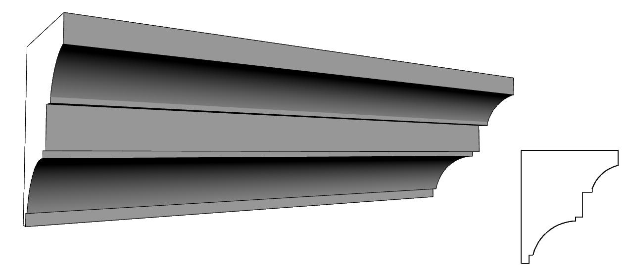 cornicione per facciata liberty su misura e su disegno PL71