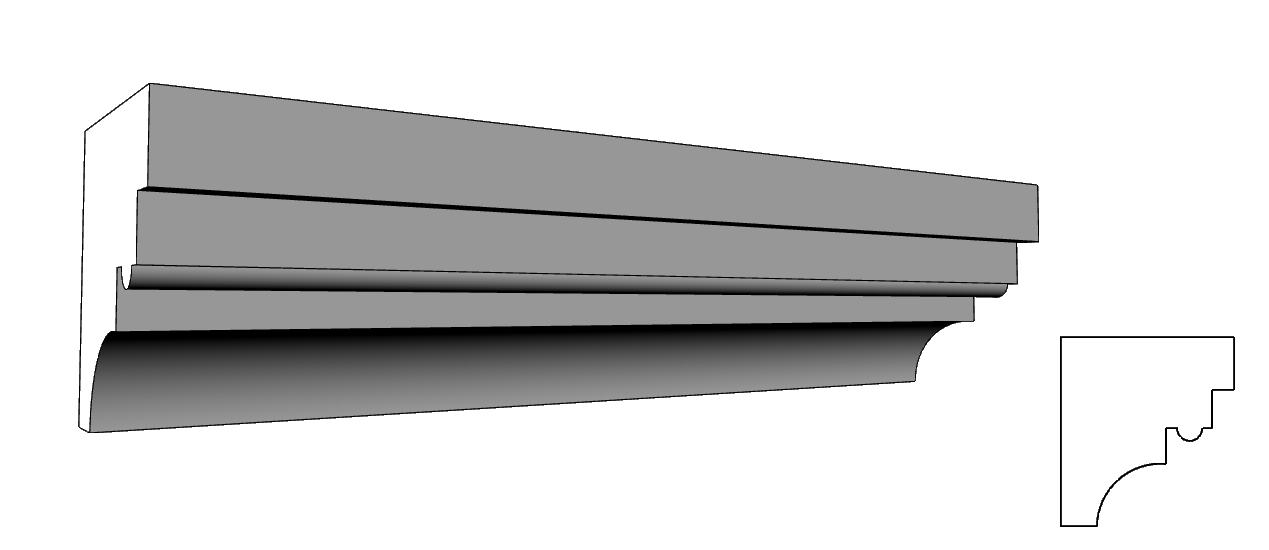 cornicione per finitura facciate in polistirolo espanso PL70