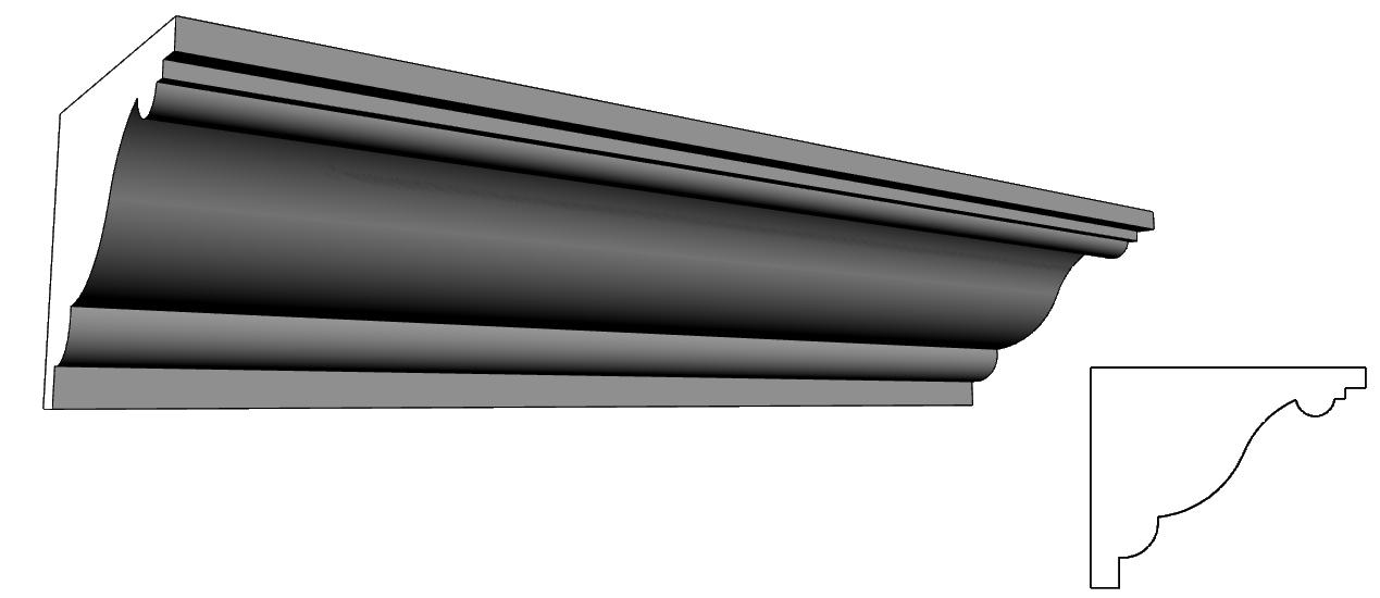 elementi prefabbricati in polistirolo per decorazione delle facciate PL75