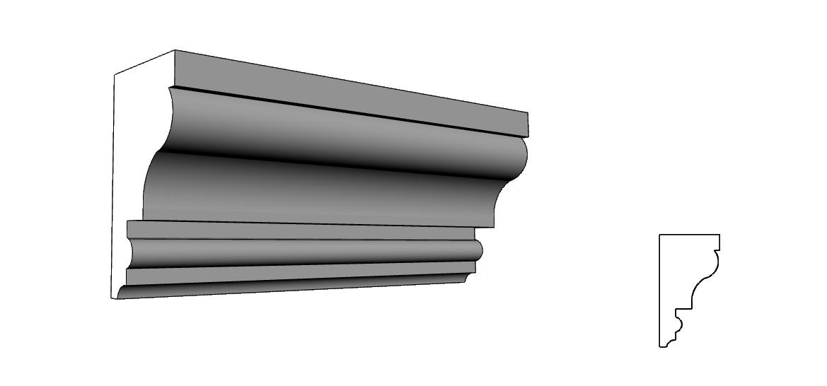 profili decorativi cornici in polistirene per esterno PL 80