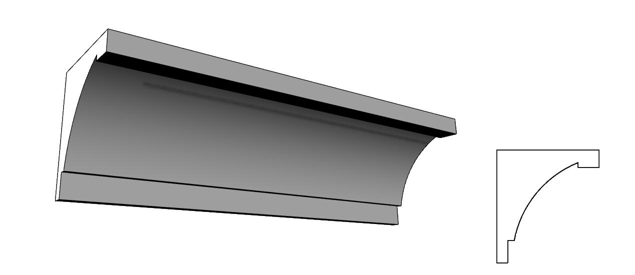 sottogronda in polistirolo resinato PL73
