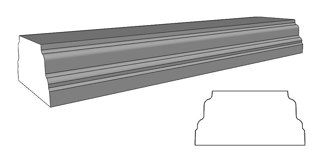 balaustra con basamento PL151