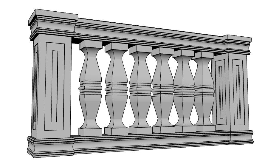 balaustra esterna PL456