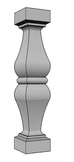 balaustra in cemento alleggerito PL469