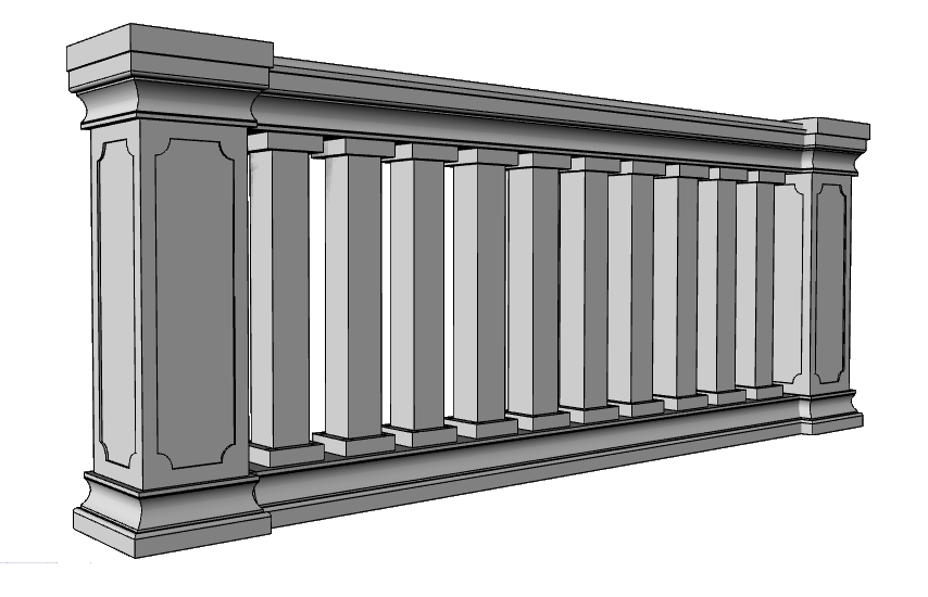 balaustra lineare PL458