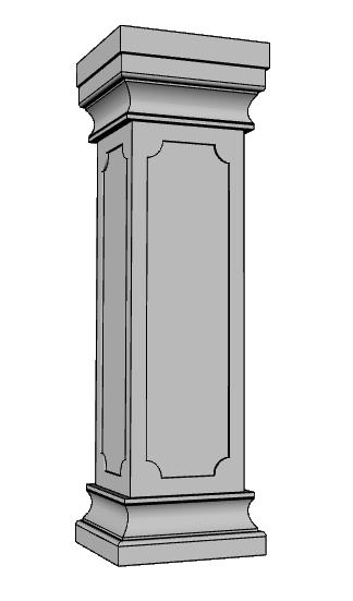 balaustra pilastro PL486
