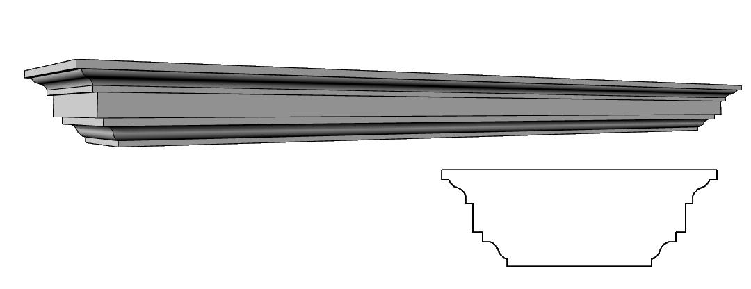 basamento superiore per balaustra PL496