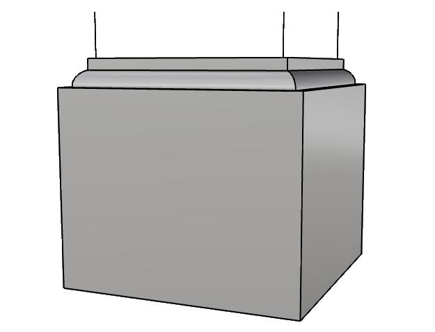 base capitello squadrato in polistirolo PL432