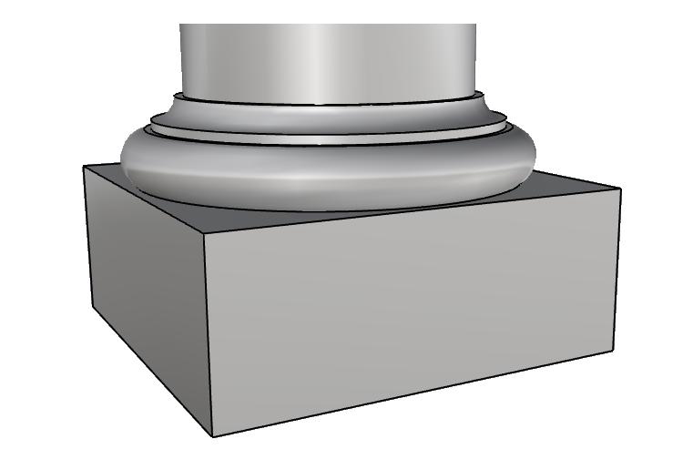 base per capitello in polistirolo PL433