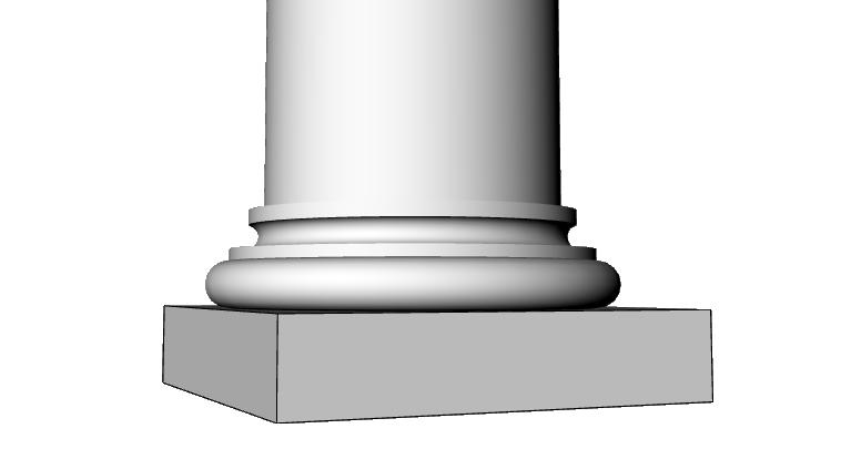 capitello base colonna in eps PL434