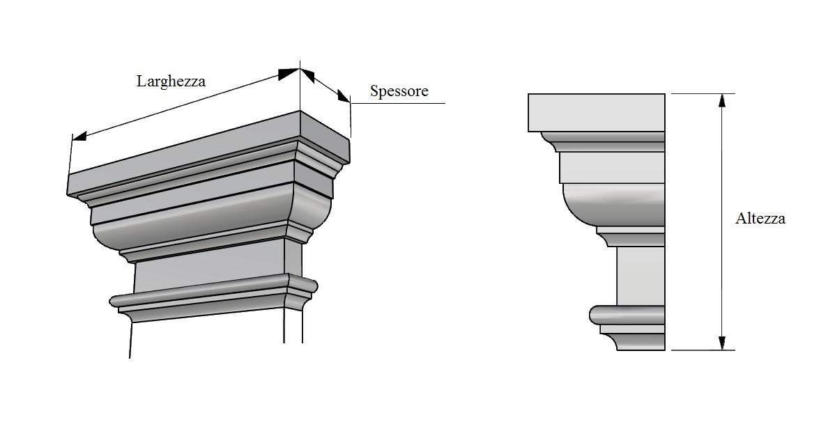 capitello lesena PL410