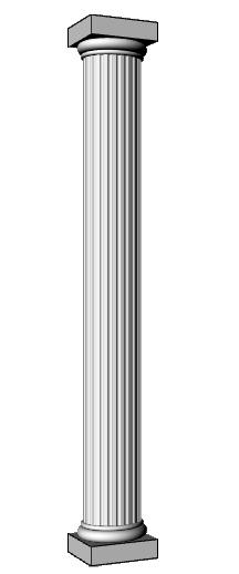 colonna in polistirolo resinato PL417
