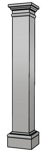 colonna squadrata in polistirene PL418