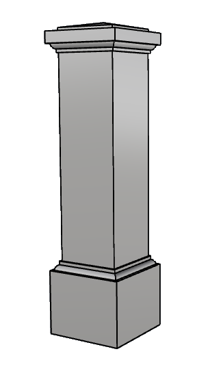 colonna squadrata polistirolo PL420