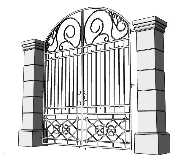 colonne per cancello con terminali