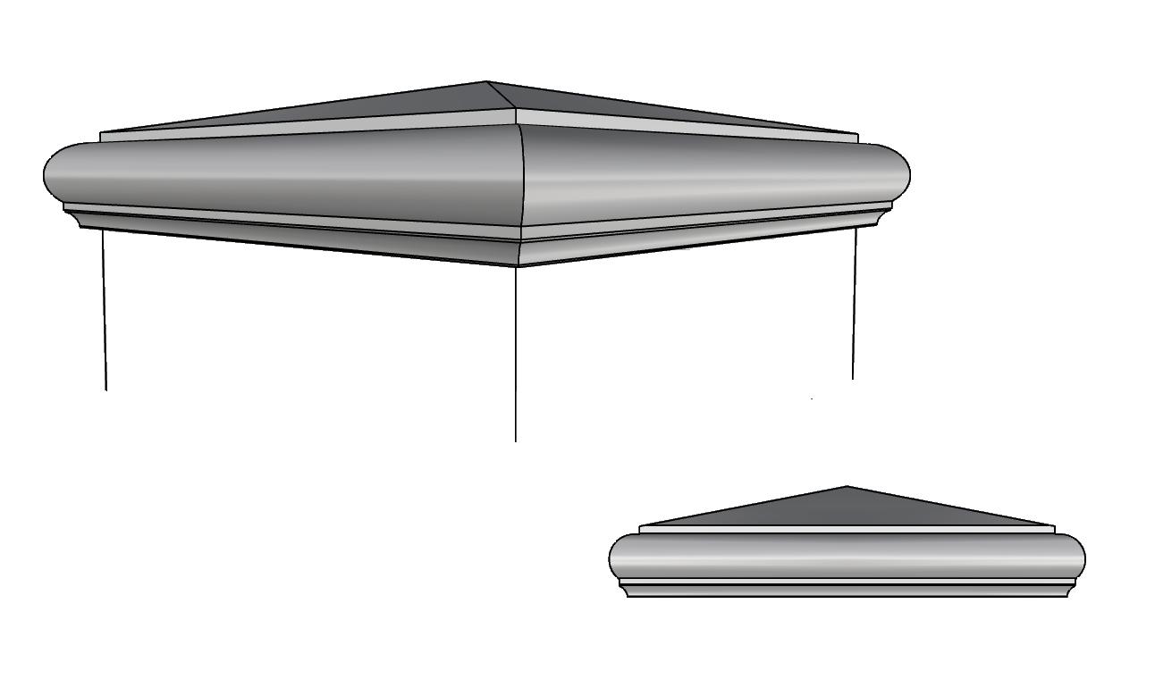 copricolonna leggero PL166