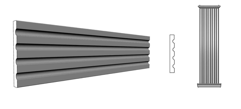 cornice lesena PL407
