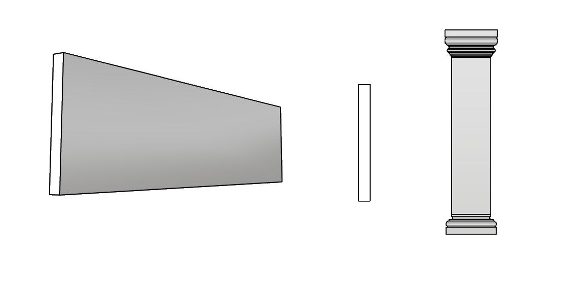 cornice lesena a fascia PL408