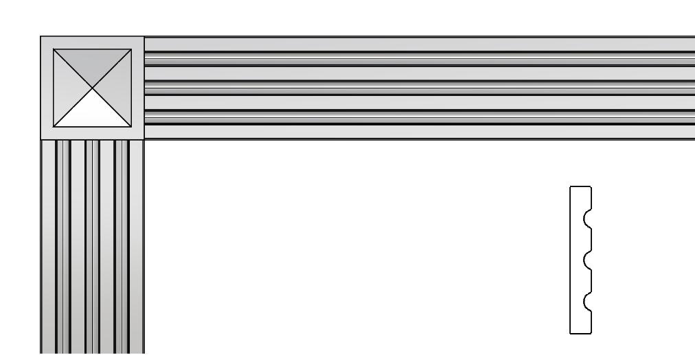 cornice per lesena PL406