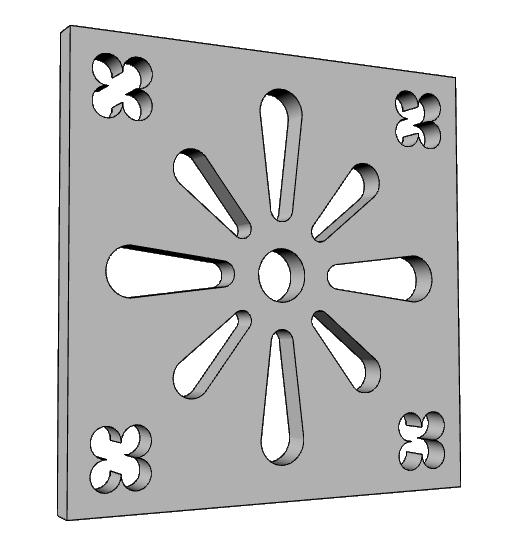 decorazione griglia areazione in eps PL530