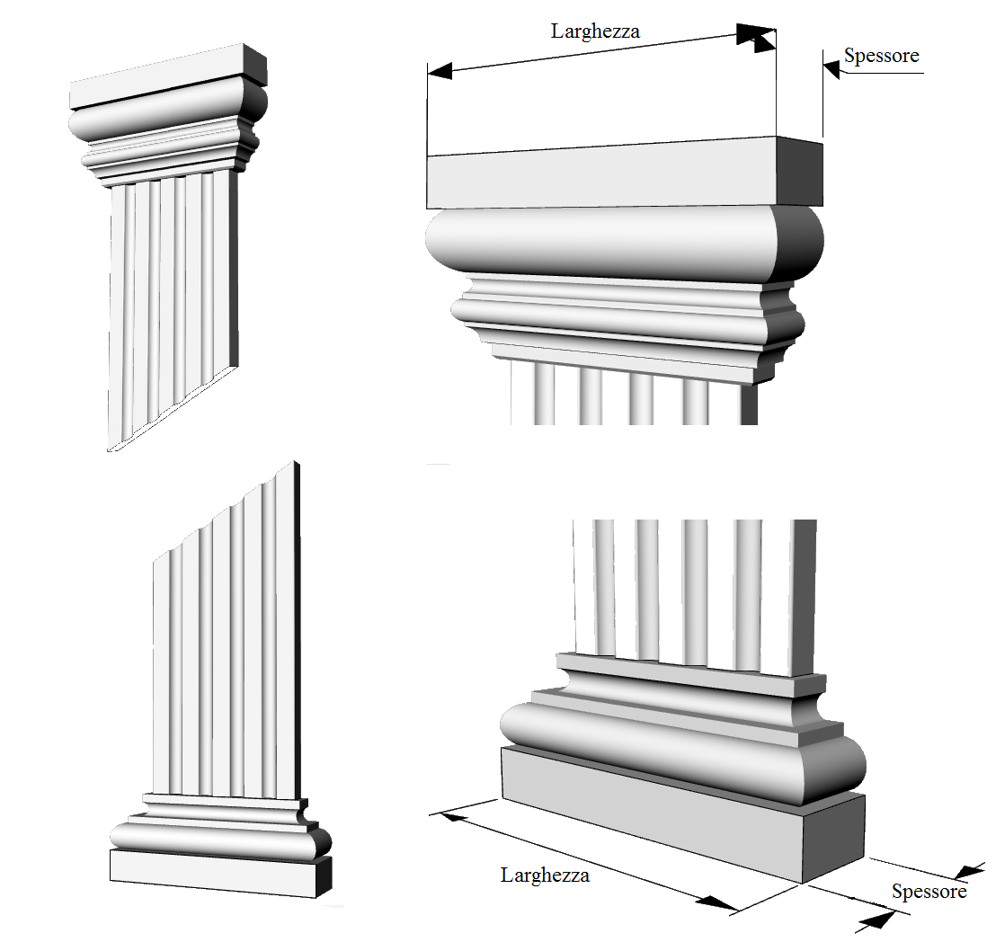 decoro facciata lesena PL403