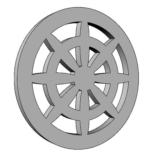 griglia decorata in polistirolo PL543