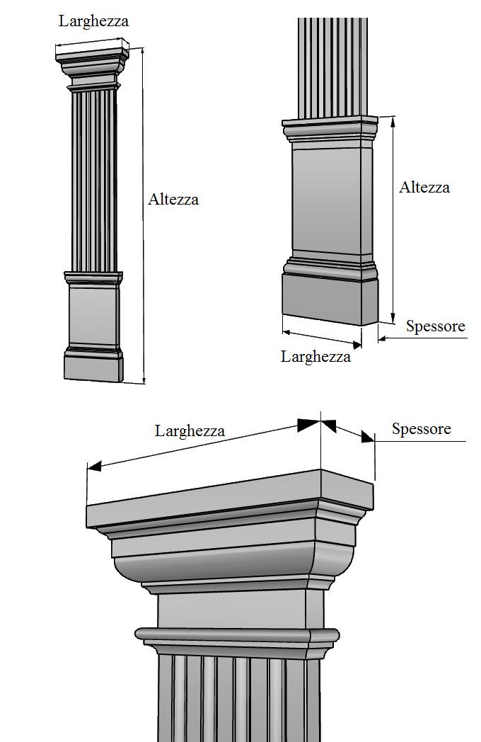 lesena per decoro facciata PL405
