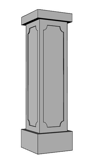 pilastro balaustra PL116
