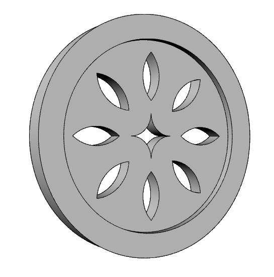 presa d'aria decorativa in polistirene rivestito PL546