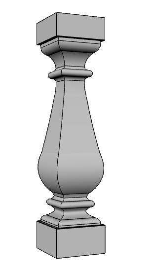 ringhiera balaustra colonnino PL466