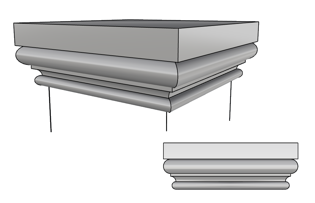 terminale colonna effetto pietra PL502