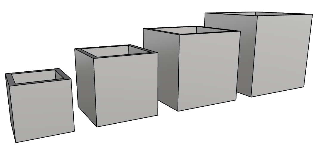vasi leggeri di design per interno e esterno cubo PL562