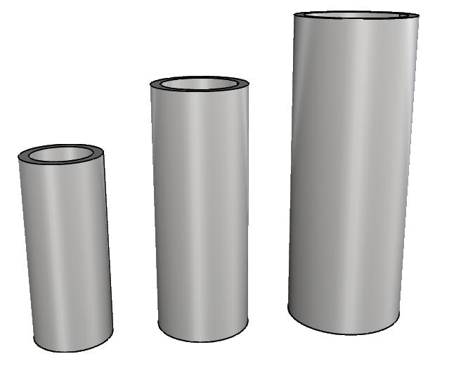 vaso a cilindro in eps leggero per interno ed esterno PL571