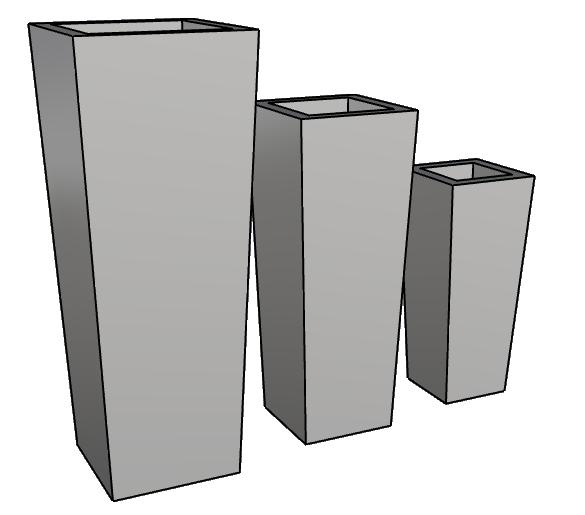 vaso piramidale leggero di design PL560