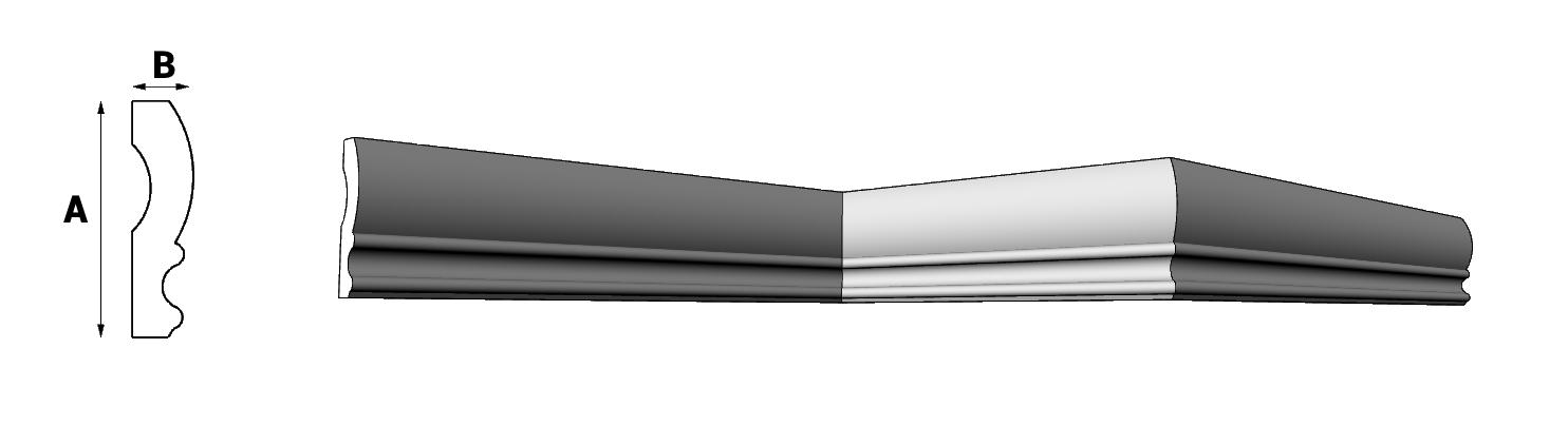 cornice in eps ART PL591