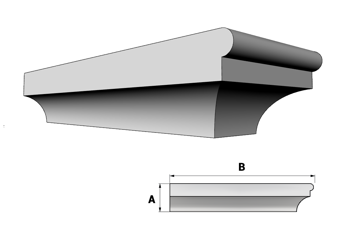 mensola in polistirolo ART PL187